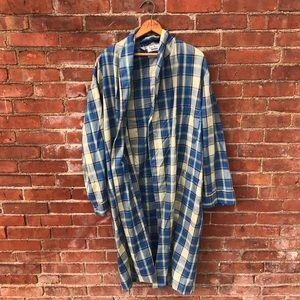 70's Plaid Robe
